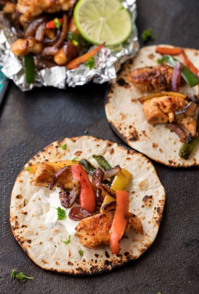 Foil Pack Chicken Fajitas