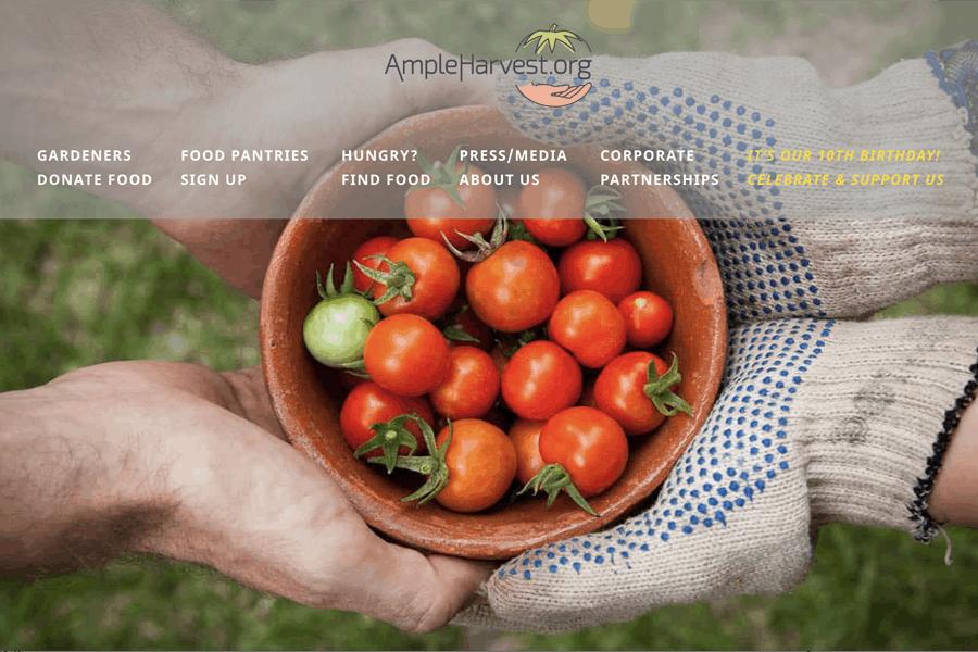 Ample Harvest homepage