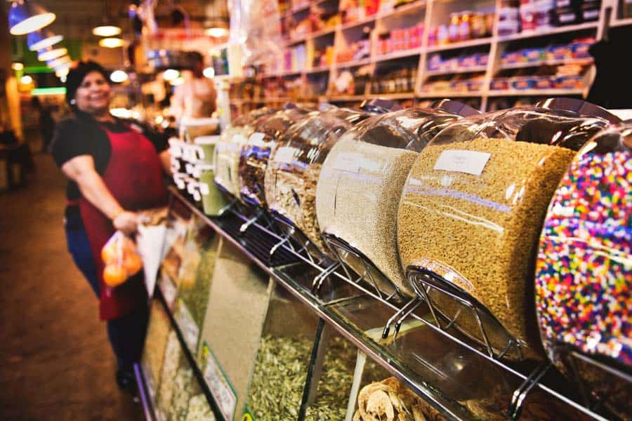Bulk Bins at grocery store