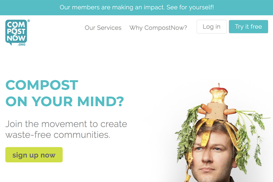 Compost Now homepage