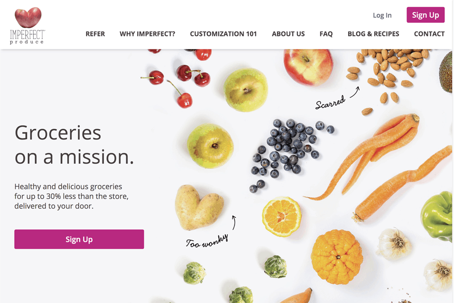 Imperfect Produce homepage