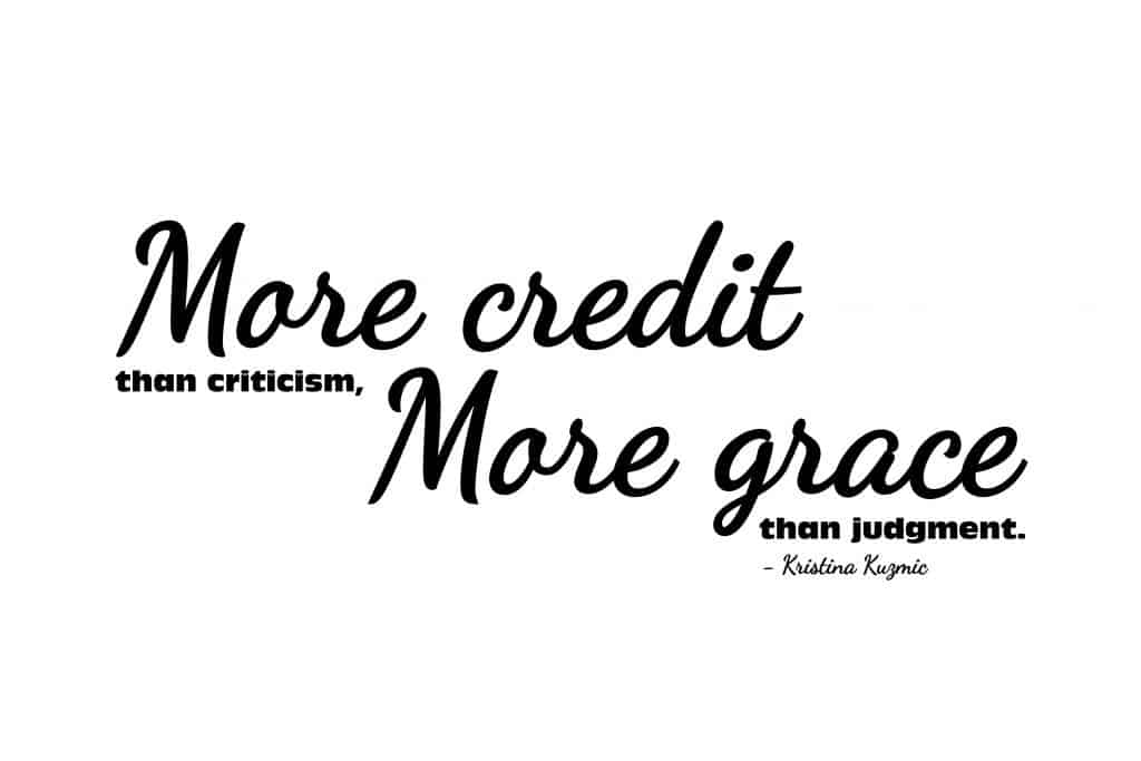 More Credit More Grace