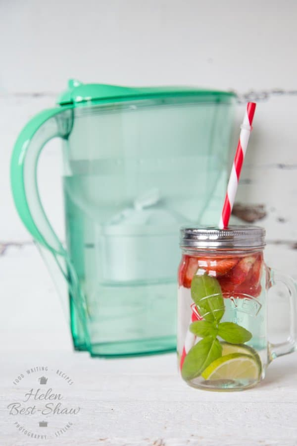 Strawberry Basil Infused Water