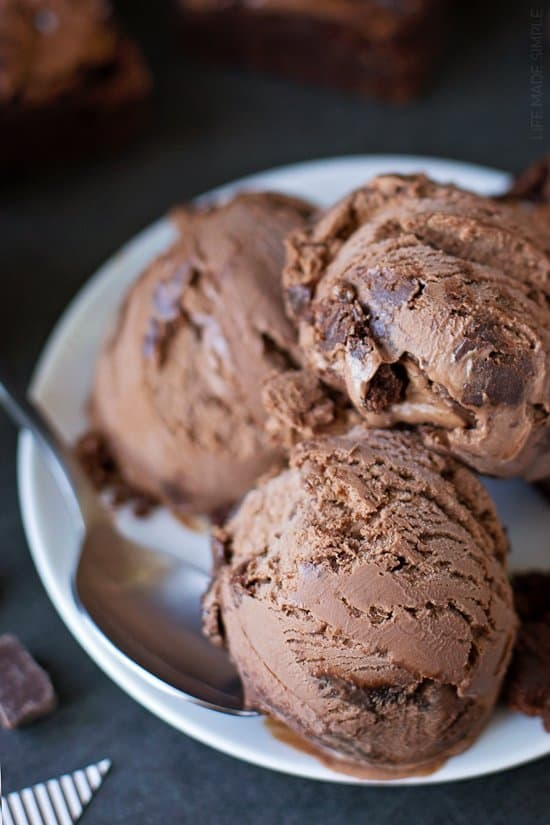 Brownie Fudge Swirl Ice Cream