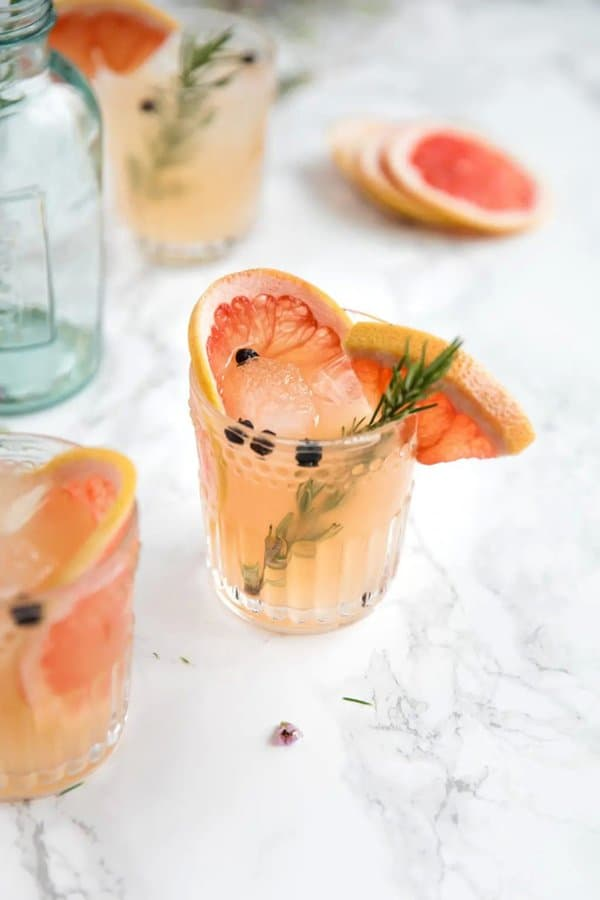 Elderflower and Grapefruit Gin and Tonic