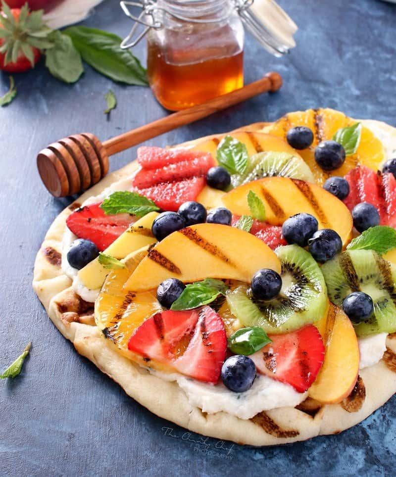 Grilled Fruit Flatbread Pizza