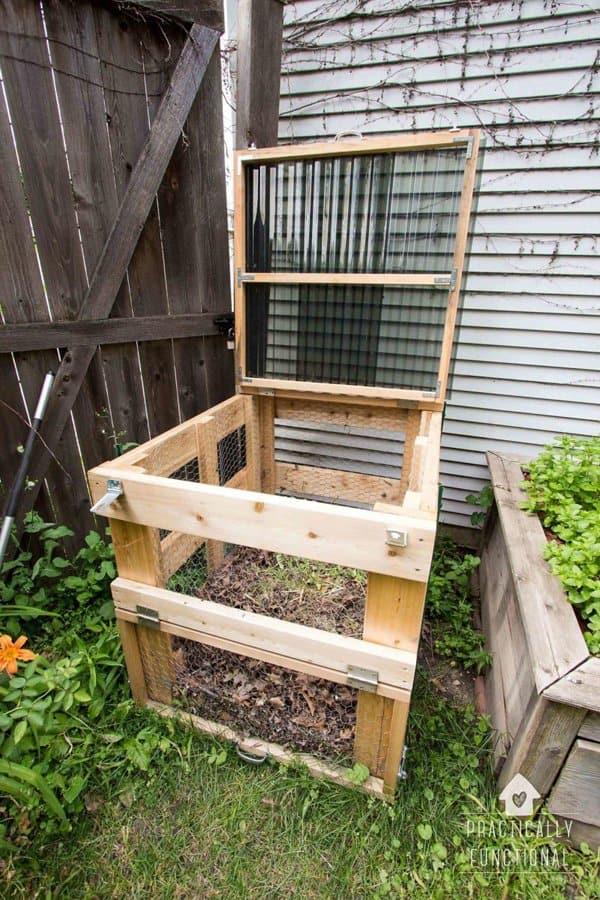 Lidded Compost Bin