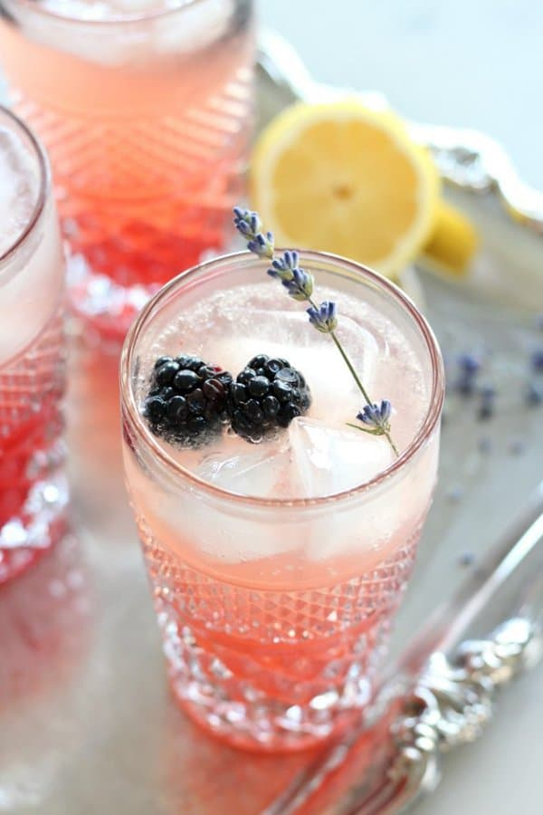 Lavender Blackberry Sparkling Lemonade