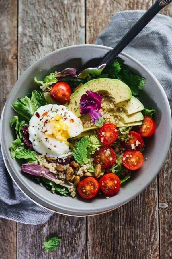Poached Egg Breakfast Salad