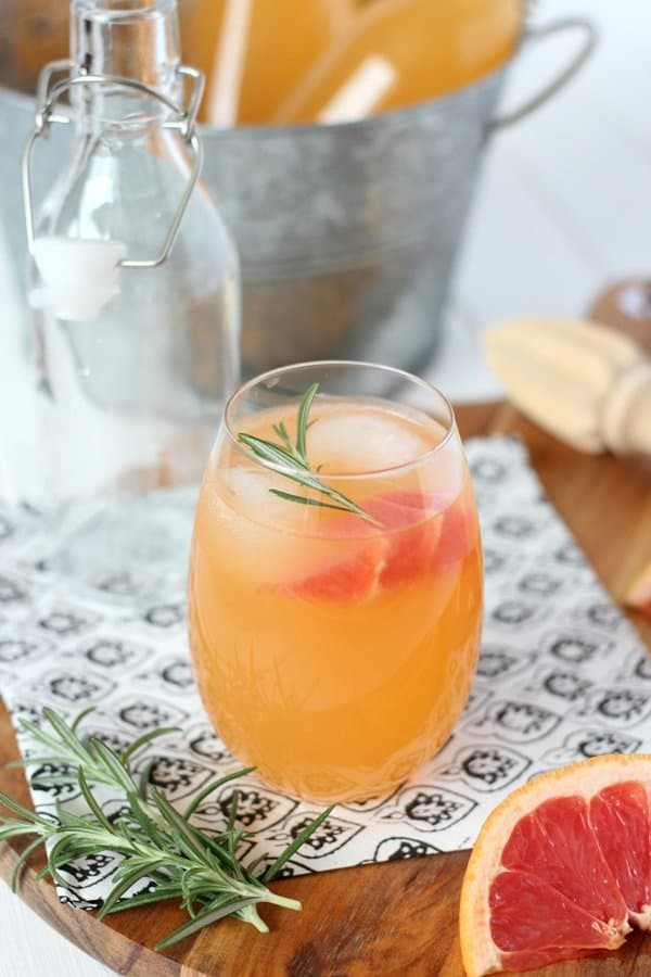 Rosemary Infused Grapefruit Spritzer