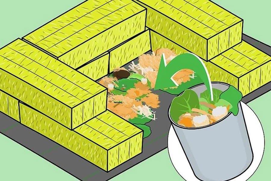 Straw Compost Bin