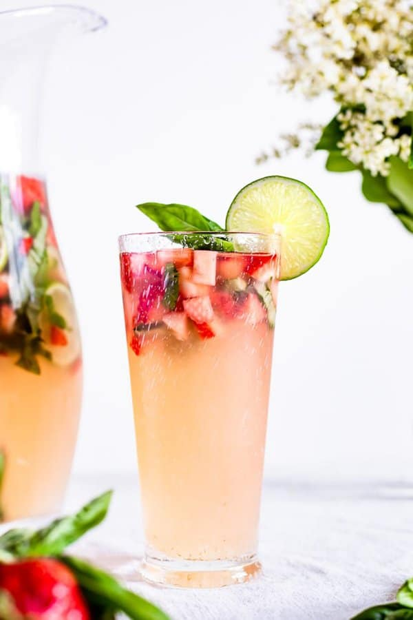 Strawberry Basil Limeade
