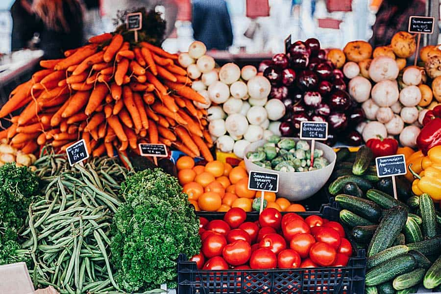 Vegetables at Farmers Market