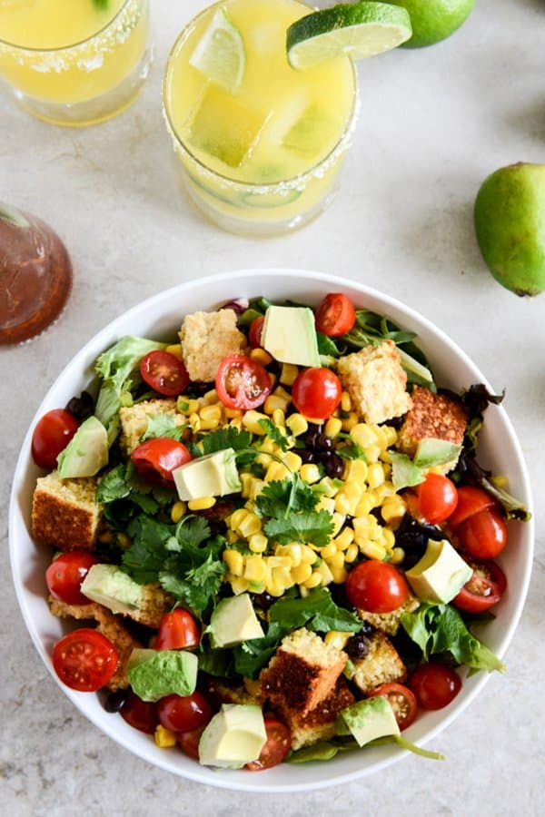 Black Bean and Cornbread Panzanella