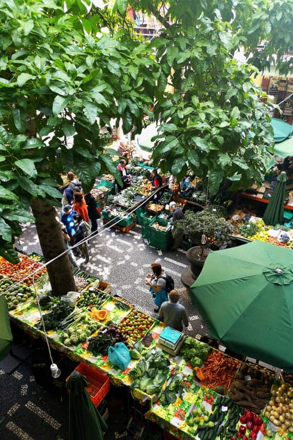 aerial view of a Farmers Market