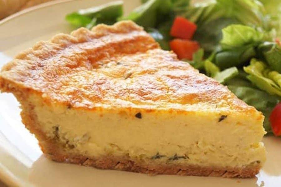 Leek Parmesan Quiche