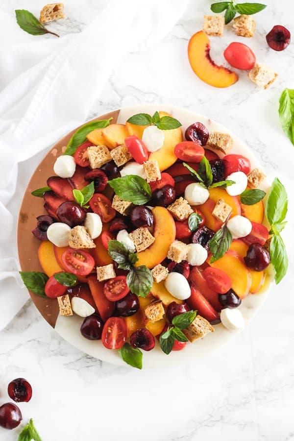 Stone Fruit Panzanella