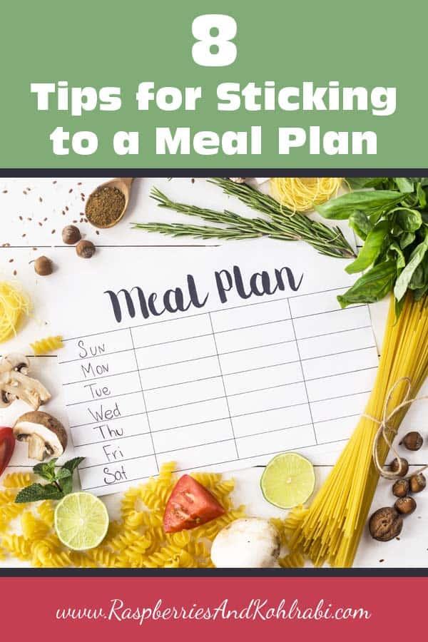 Sticking to a Meal Plan