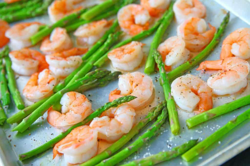 Shrimp and Asparagus Sheet Pan Meal