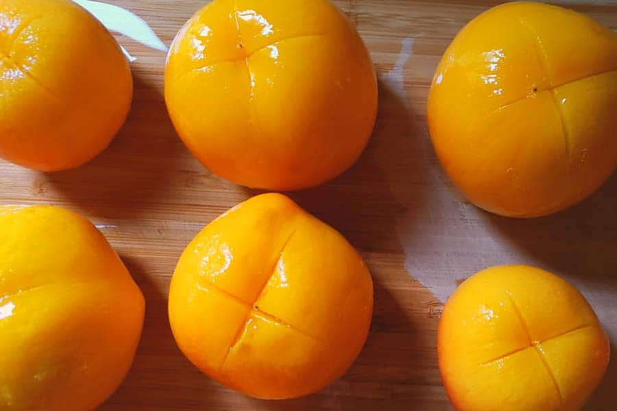 Peeled Peaches