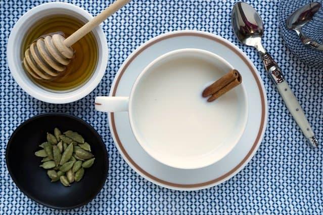Cardamom Honey Milk