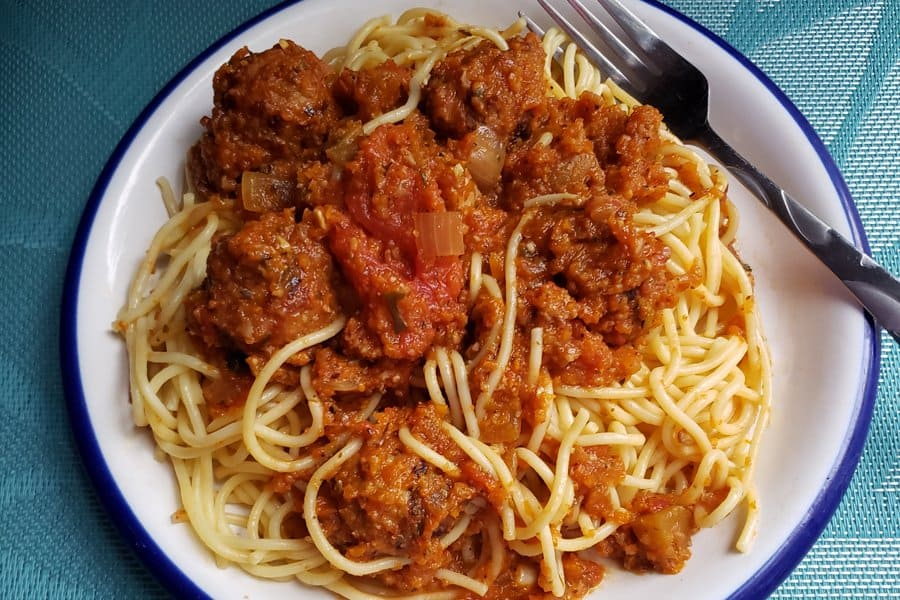 Plate of Spaghetti with Sauce