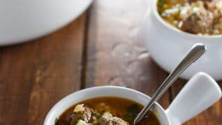 Moroccan Meatball Couscous Soup Recipe |Little Spice Jar