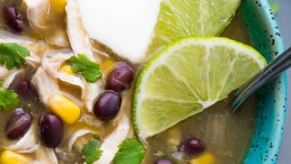 Shortcut Instant Pot Chicken Chile Verde Soup