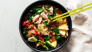 Instant Pot Chicken Tortilla Ramen Soup · i am a food blog