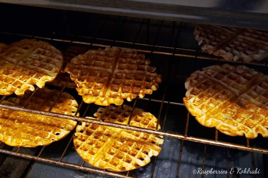 Waffles in Oven