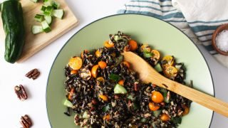 Summer Wild Rice Salad with Roasted Garlic