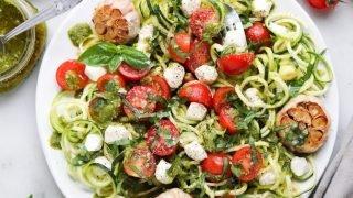 Spiralized Zucchini Caprese Salad