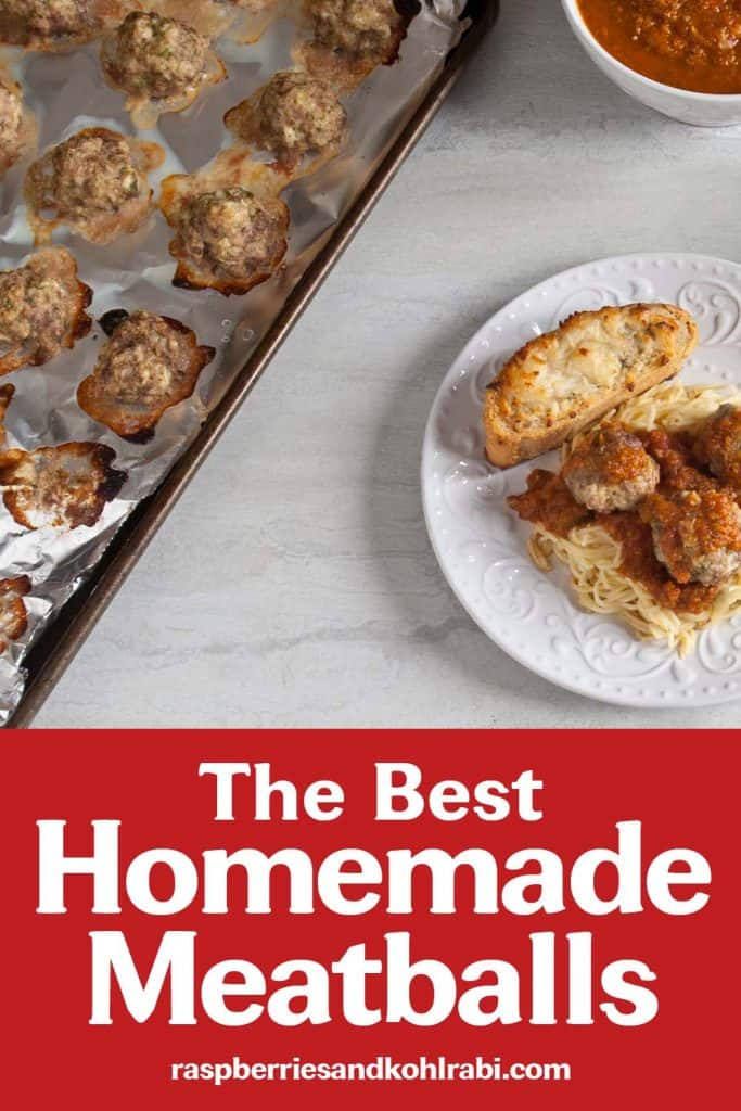 Homemade Meatballs Pinterest Image