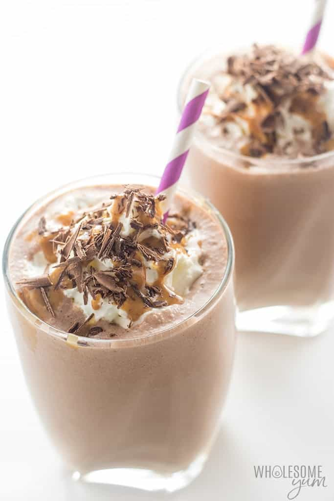 Healthy Chocolate Peanut Butter Low Carb Smoothie