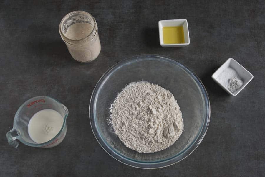 Sourdough Discard Flatbread Ingredients