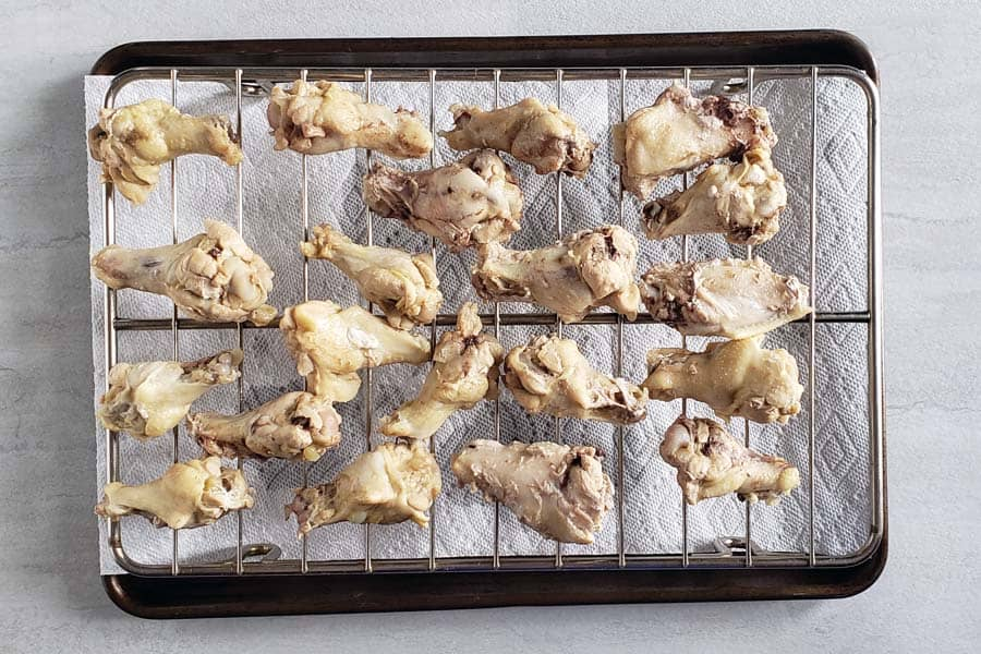 Chicken Wings on Drying Rack