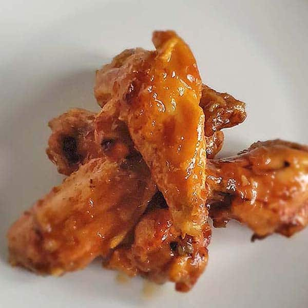 Chicken Wings on White Plate