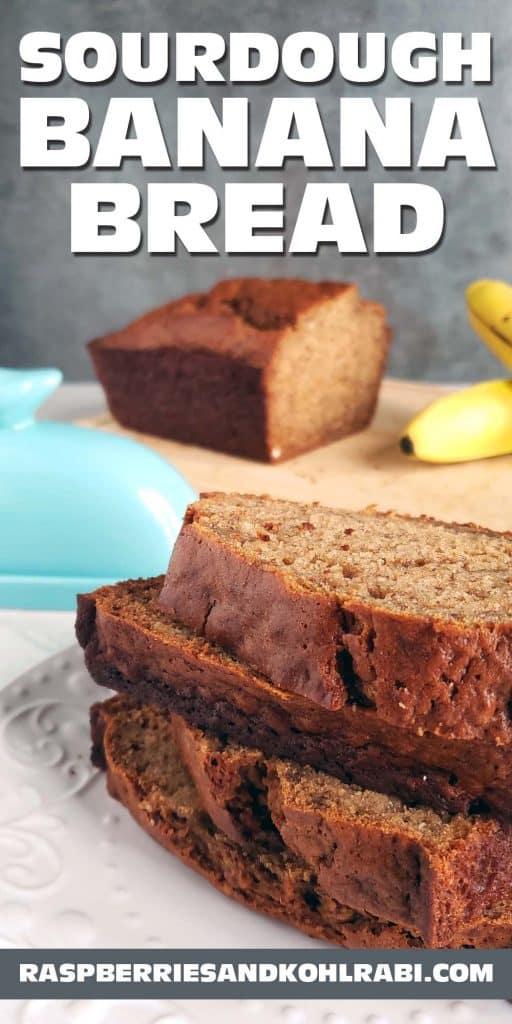 Sourdough Banana Bread Pinterest Image
