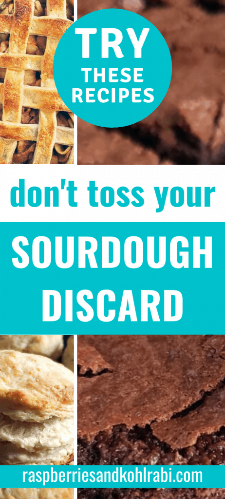 collage of different sourdough discard recipes