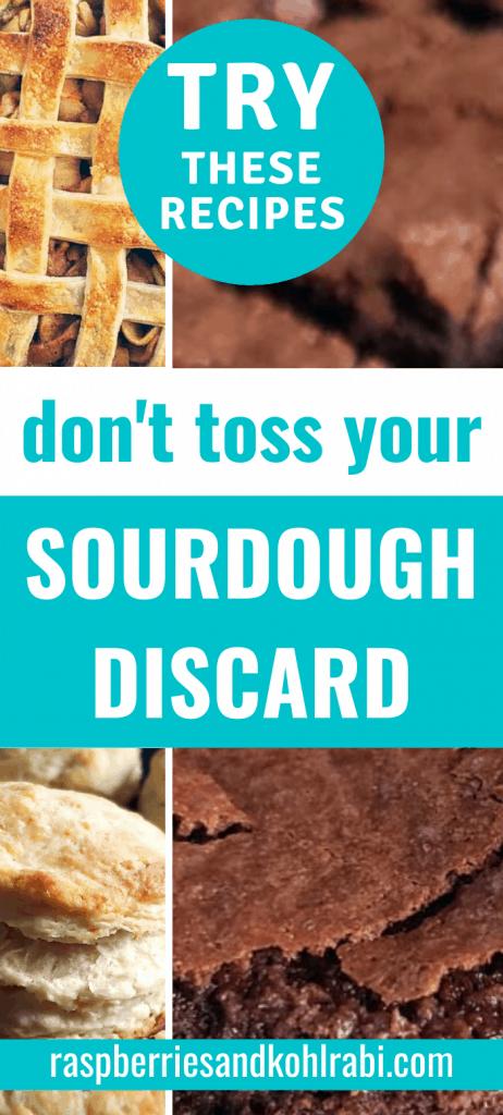 Sourdough Discard Recipes Pinterest Image