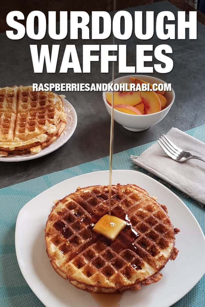 Pinterest Image Sourdough Waffles