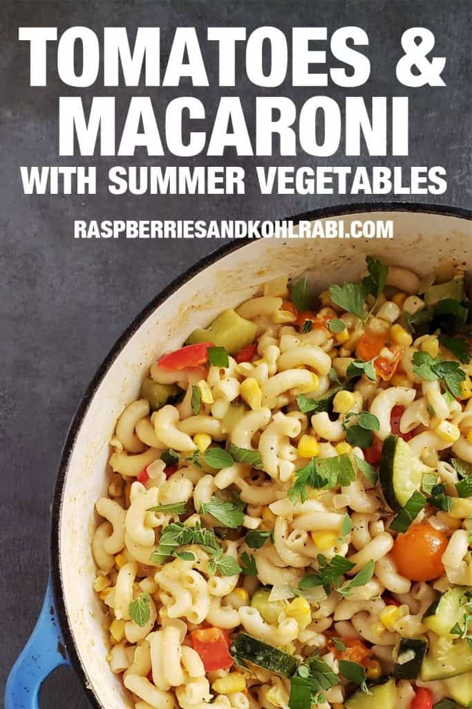 Close up of tomatoes and macaroni